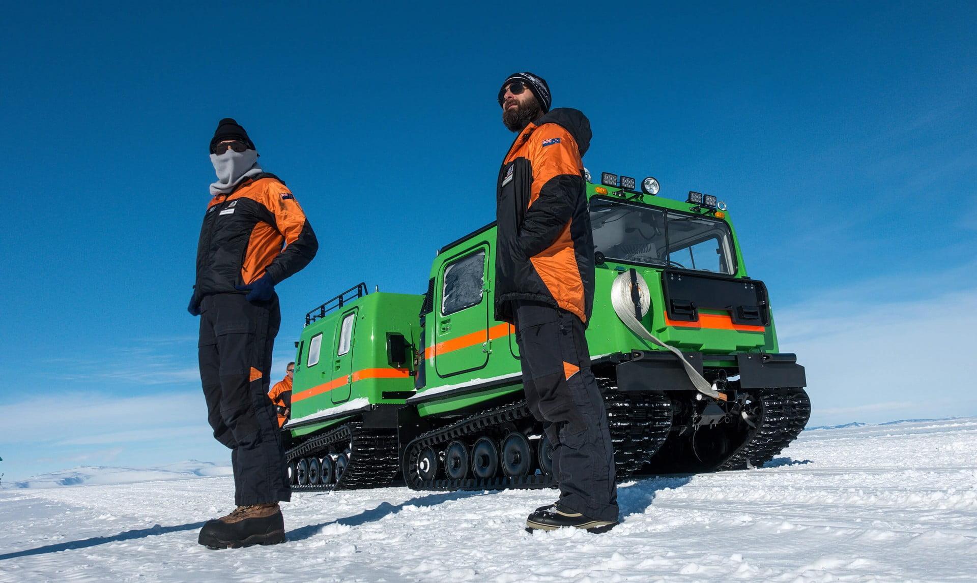 Hagglund on Ross Island, Antarctica.