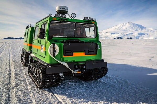 Hagglunds transporter, Antarctica.
