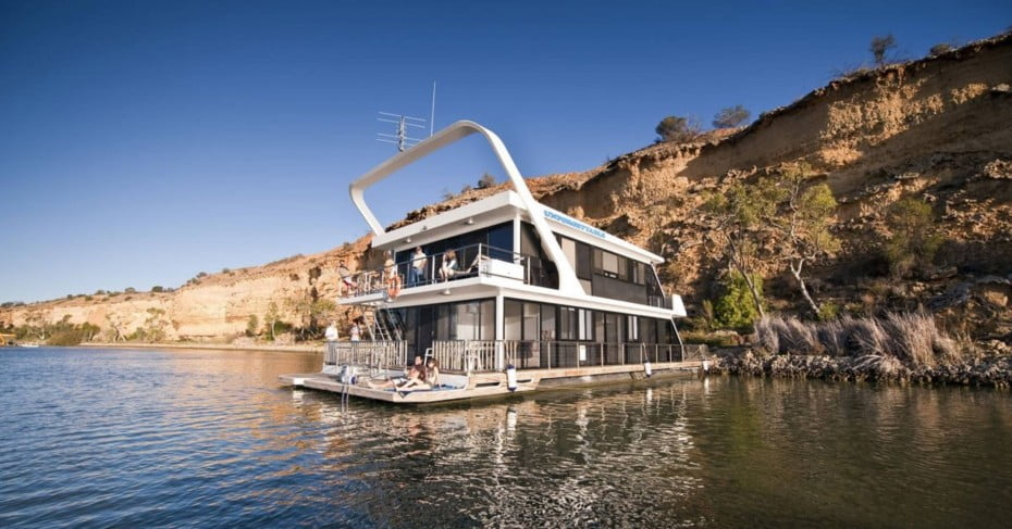 Houseboating on the Murray River, South Australia.