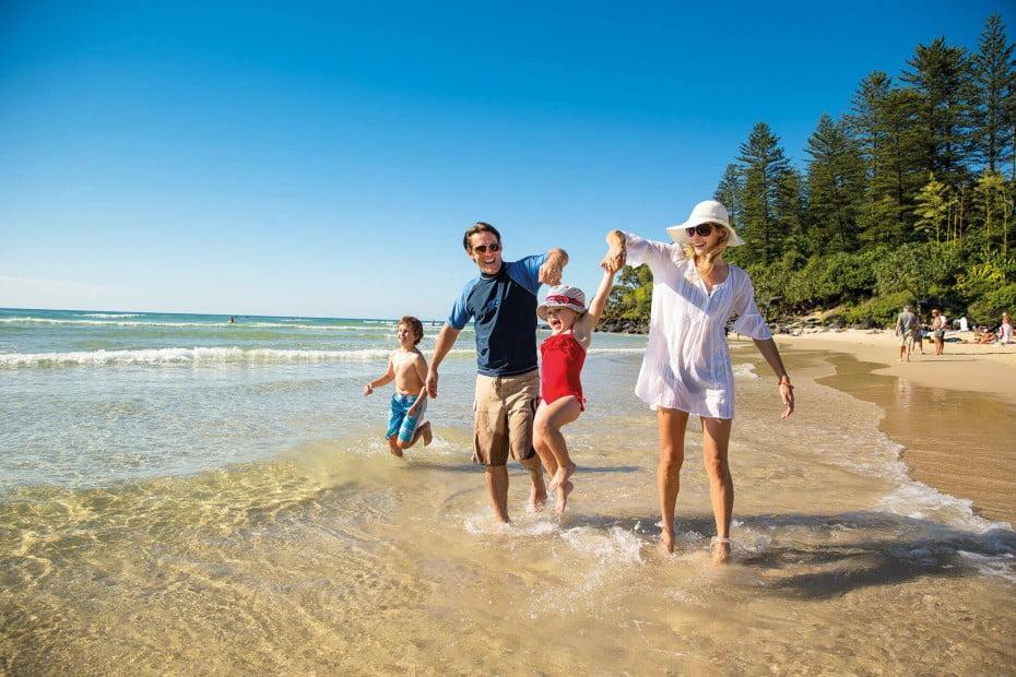 Burleigh Heads Beach, Gold Coast, Australia.