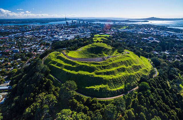 View of Mt Eden, Auckland, New Zealand