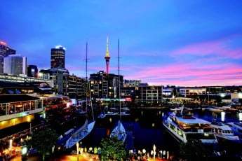 Auckland Viaduct Harbour, New Zealand.