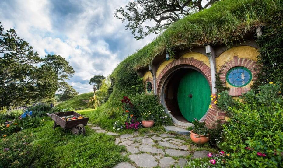 Hobbiton in summer, Matamata, New Zealand