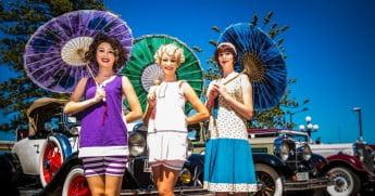 Ladies at Napier Art Deco Festival, New Zealand.