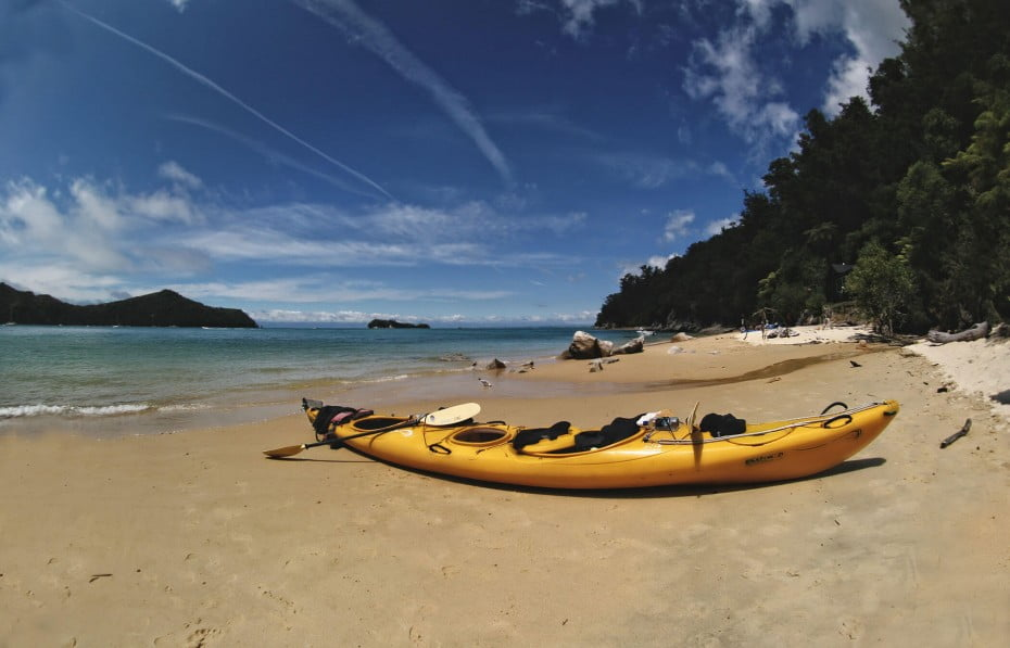 Kayaking in Abel Tasman, Nelson, New Zealand.