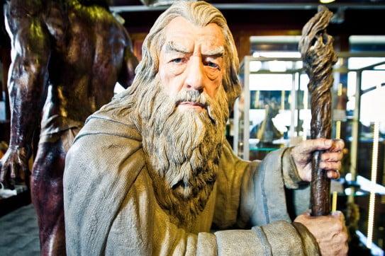 Gandalf statue, Weta Workshop, Wellington, New Zealand.
