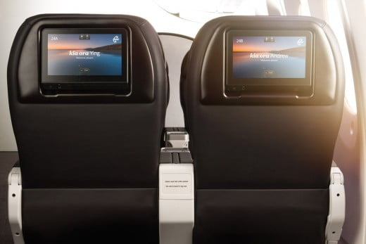 Air New Zealand Boeing 787-9 Premium Economy seats inflight entertainment.