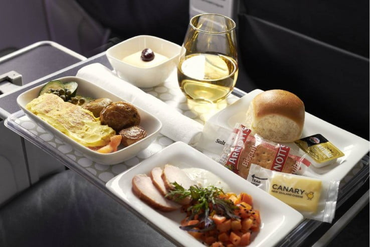 Air New Zealand Premium Economy Meal