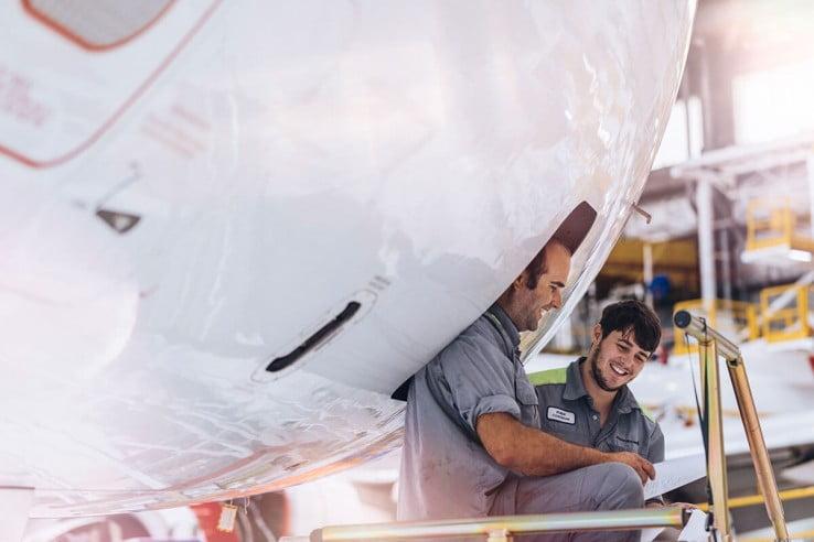 Air New Zealand engineers.