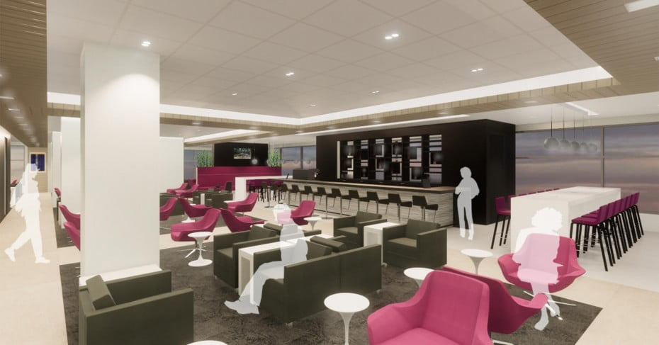 Wellington Airport new lounge rendering 2019.