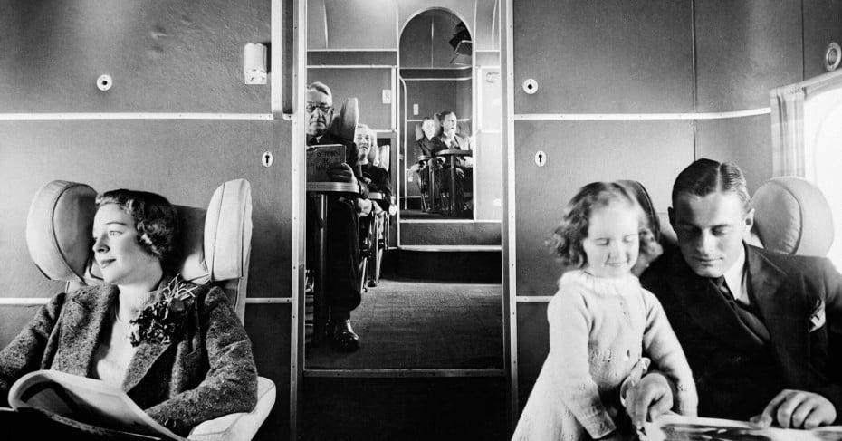 1940s flying boat's interior.